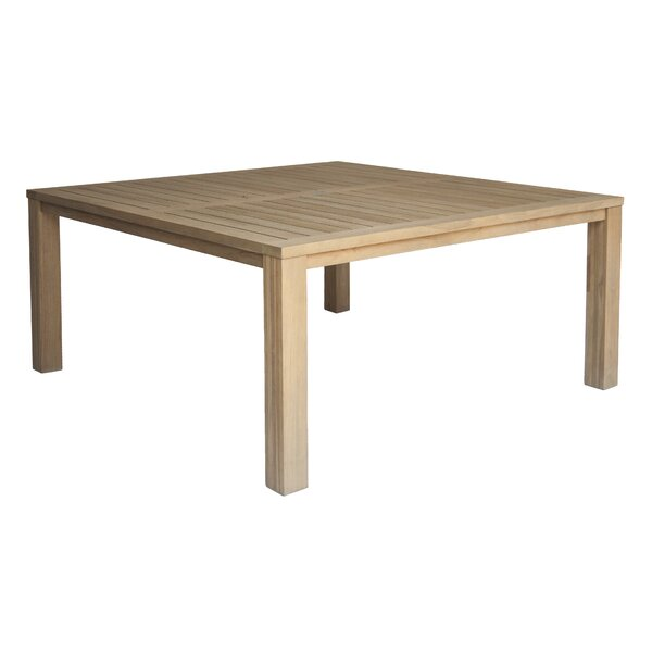 Rocha Teak Dining Table by Rosecliff Heights