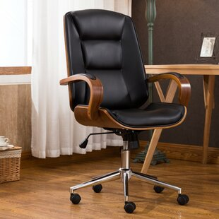 Brattleboro Adjustable Office Low-Back Executive Chair & Polyurethane Wood Office Chairs Youu0027ll Love | Wayfair