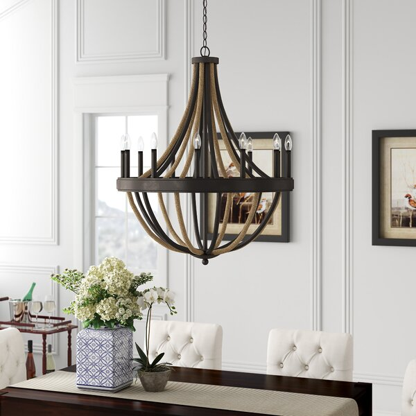 Helga 12 - Light Candle Style Empire Chandelier By Laurel Foundry Modern Farmhouse