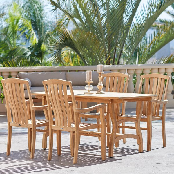 Ballinger Teak 5 Piece Dining Set by Darby Home Co
