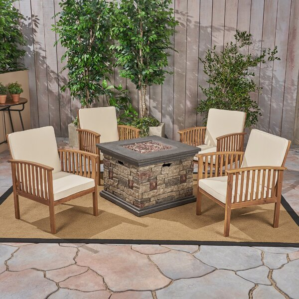 Safira 5 Piece Sofa Seating Group by Beachcrest Home