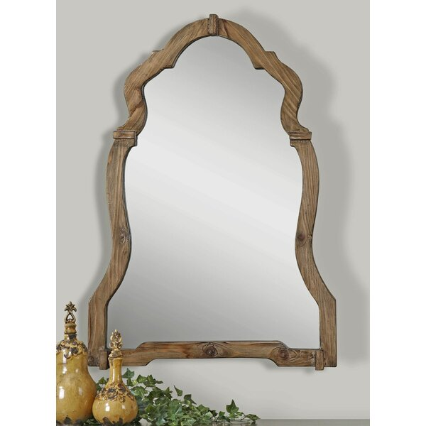 Wood Wall Mirror one allium way walnut wood wall mirror & reviews | wayfair