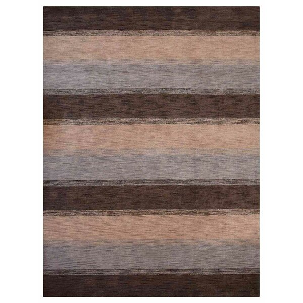 Creager Hand-Tufted Wool Brown/Beige/Gray Area Rug by Ebern Designs