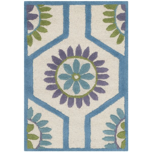 Martins Ivory / Blue Area Rug by Wrought Studio