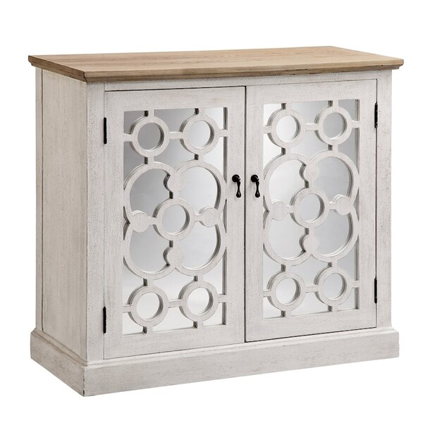 Matherne 2 Door Mirrored Accent Cabinet by Bungalow Rose Bungalow Rose