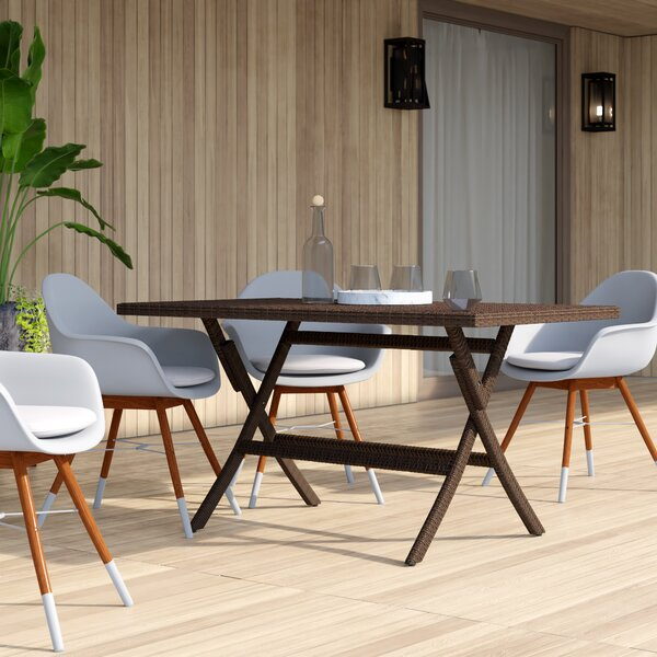 Copher Folding Wicker Dining Table by Mercury Row