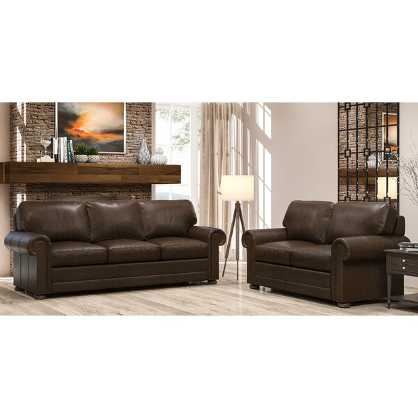 Oslo 2 Piece Leather Living Room Set by Westland and Birch Westland and Birch