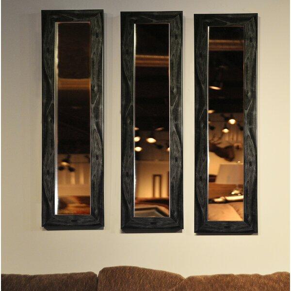 3 Piece Wanneroo Smoke Panels Mirror Set (Set of 3) by Wrought Studio