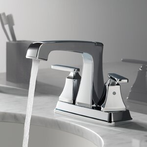 Ashlyn Centerset Double Handle Bathroom Faucet with Drain Assembly and Diamond Seal Technology