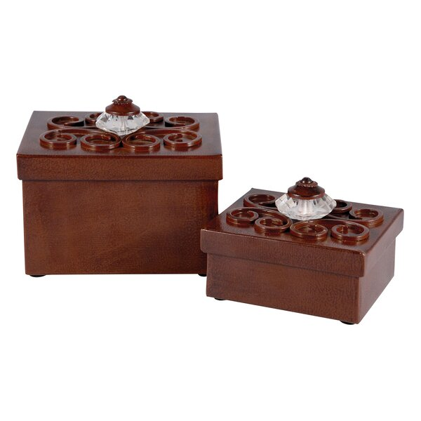 2 Piece Decorative Box Set by Rosalind Wheeler