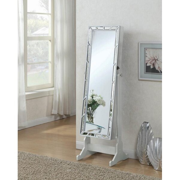 Farragut Free Standing Jewelry Armoire with Mirror by Rosdorf Park
