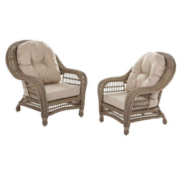 Procopio Patio Chair with Cushions (Set of 2) by Bungalow Rose Bungalow Rose