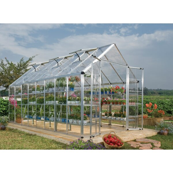 Snap & Grow 8 Ft. W x 16 Ft. D Greenhouse by Palram