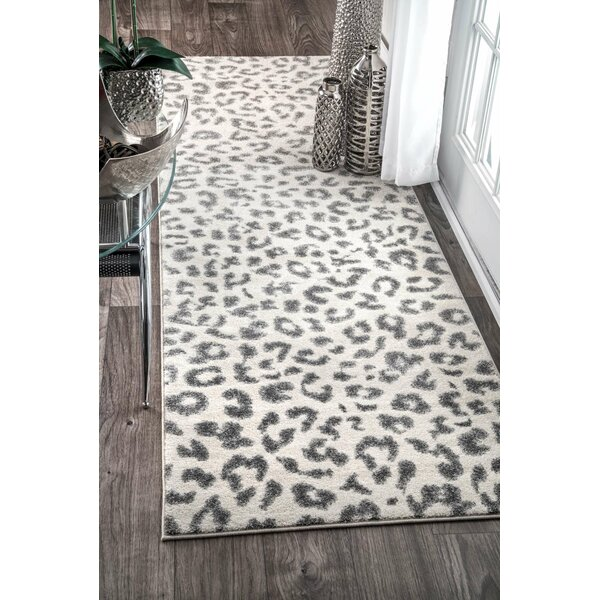 Ruiz Gray Area Rug by Ebern Designs