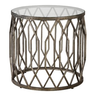 Mckinley Glass End Table