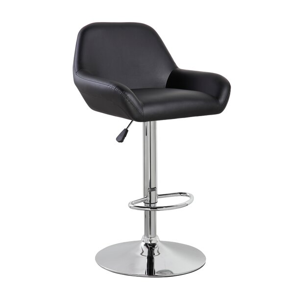 Mckenzie Adjustable Height Swivel Bar Stool by Orren Ellis