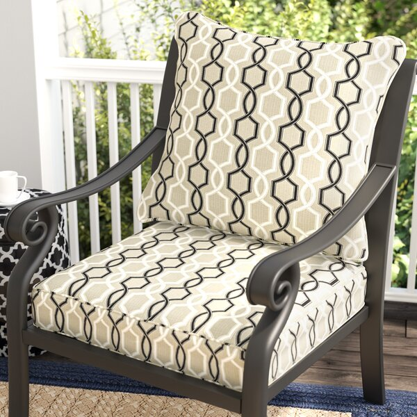 Bank 2 Piece Indoor/Outdoor Sunbrella Dining Chair Cushion Set by Darby Home Co