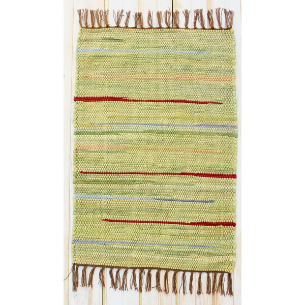 Canyon Green Stripe Area Rug by CLM