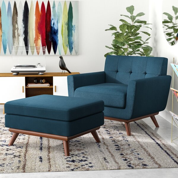 Johnston Club Chair and Ottoman by Langley Street