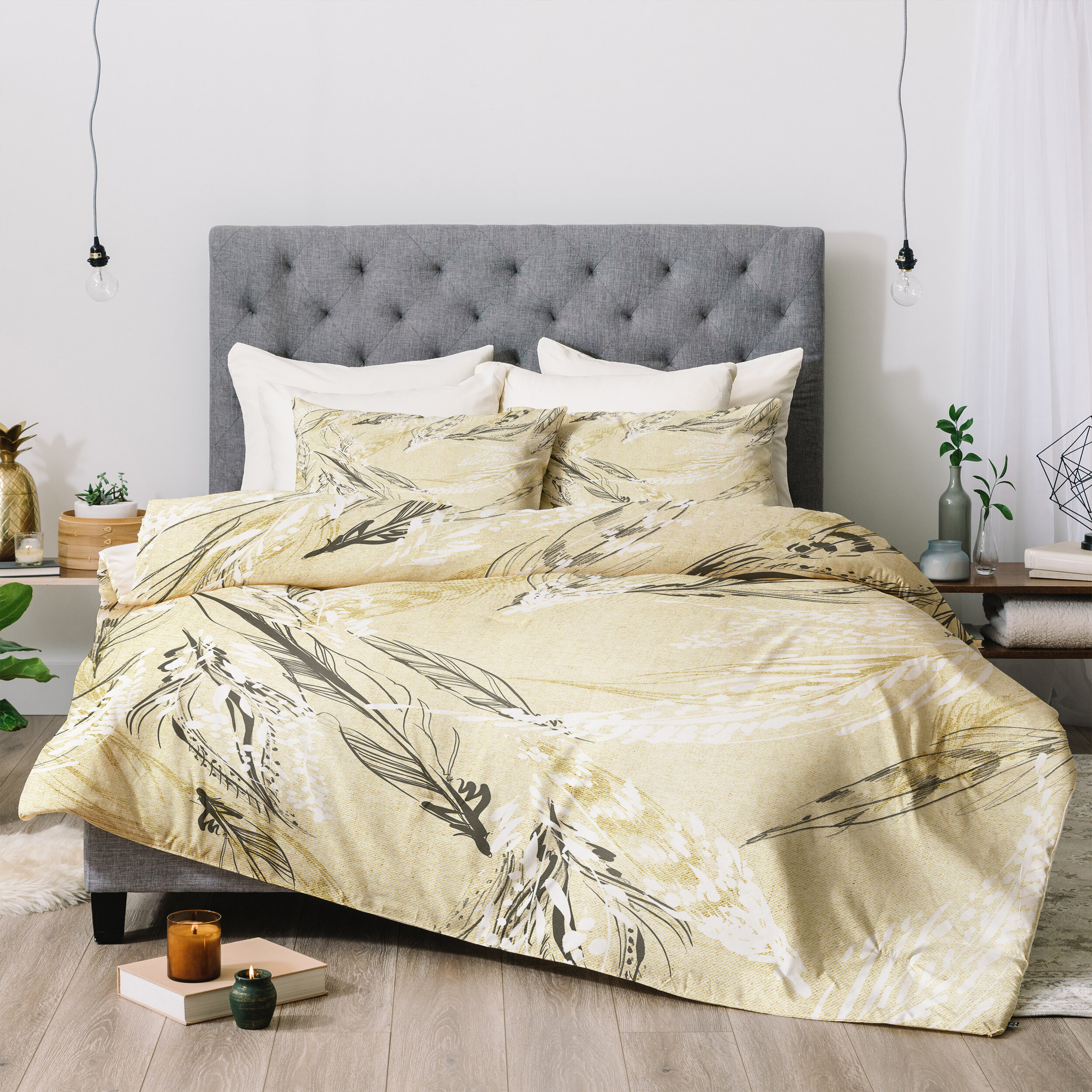 House of Bath Alpine Meadow White Double Duvet Set with 2 Pillow Cases