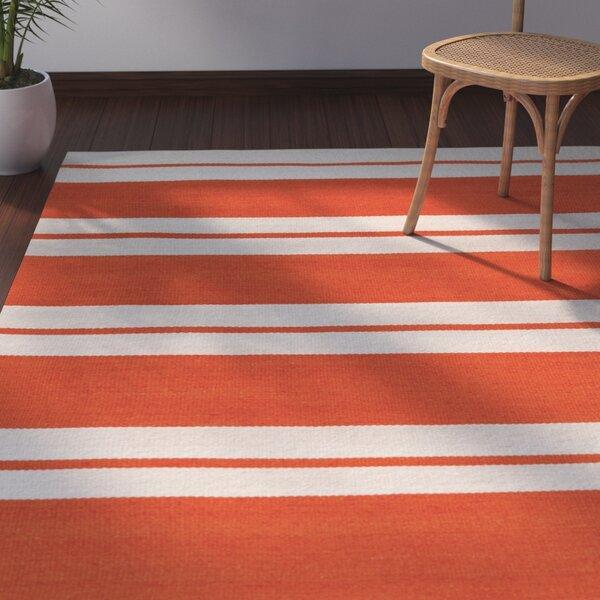 Makrasyka Hand-Woven Orange Indoor/Outdoor Area Rug by Bay Isle Home