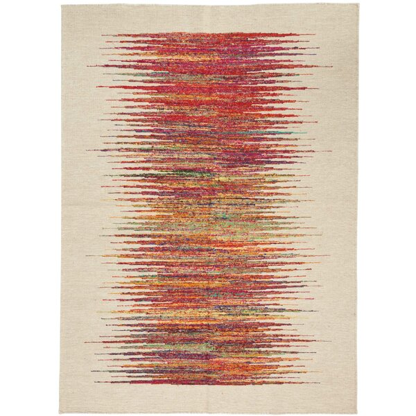 One-of-a-Kind Emmitt Hand-Woven Beige Indoor Area Rug by World Menagerie