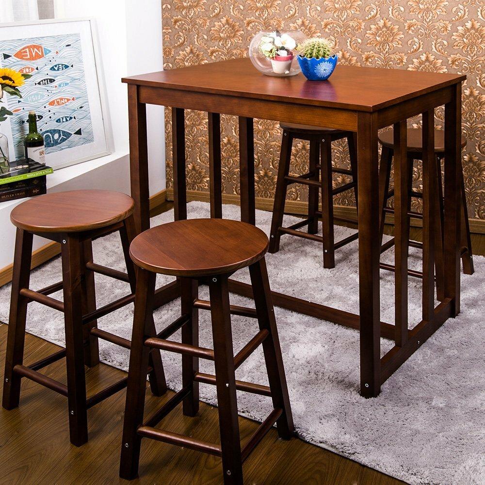 Merax 5 Piece Pub Table Set U0026 Reviews   Wayfair