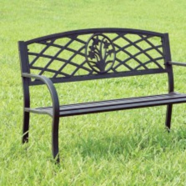Schuler Slated Steel Garden Bench by August Grove