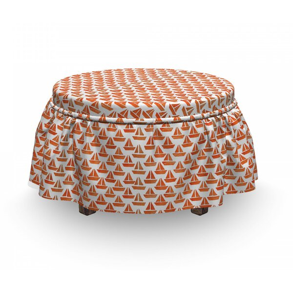 Origami Paper Boat Ottoman Slipcover (Set Of 2) By East Urban Home