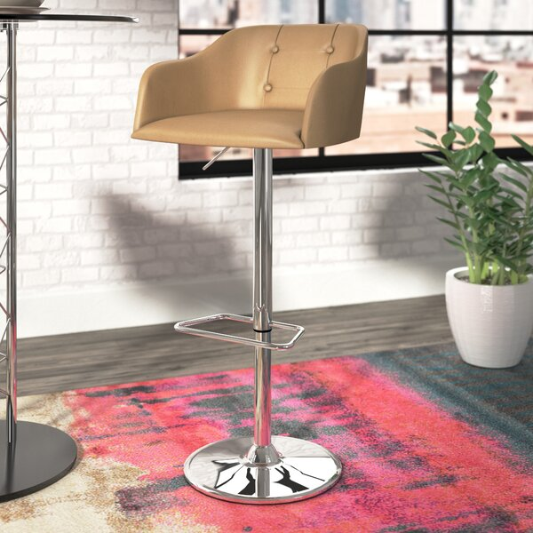 Bower Adjustable Height Swivel Bar Stool by Langley Street