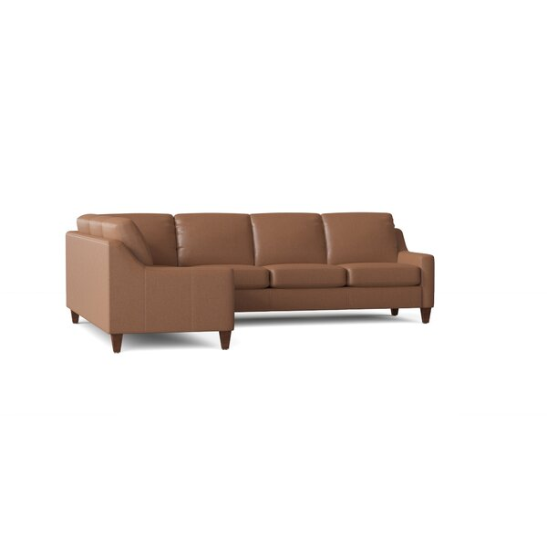 Leather L-Shaped Sectional By Wayfair Custom Upholstery™