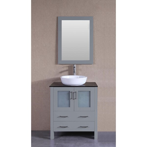 Chapman 30 Single Bathroom Vanity Set with Mirror by Bosconi