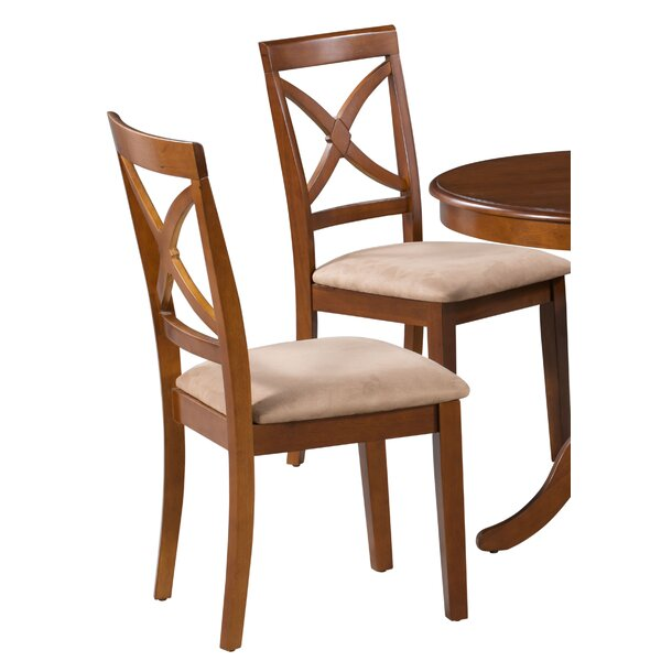 Samaniego Soft Padded Solid Wood Dining Chair (Set of 2) by Canora Grey