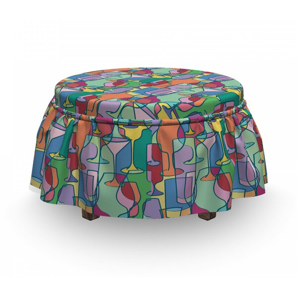 Party Items Nightclub Ottoman Slipcover (Set Of 2) By East Urban Home