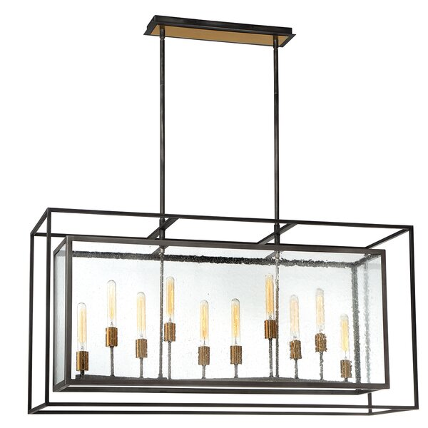 Fechteler 10 - Light Lantern Rectangle Chandelier By Gracie Oaks