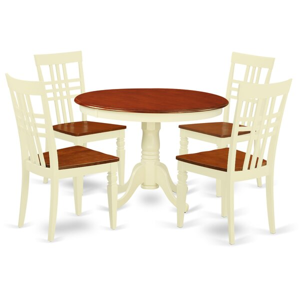 Travis 5 Piece Dining Set by August Grove August Grove