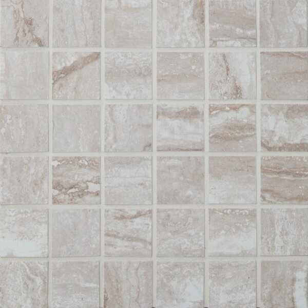 Bernini Camo 2 x 2 Porcelain Mosaic Tile in Gray by MSI