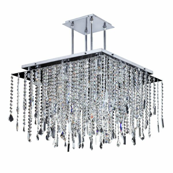 Cohen-Arazi 9 - Light Unique / Statement Square / Rectangle Chandelier with Crystal Accents by Everly Quinn Everly Quinn
