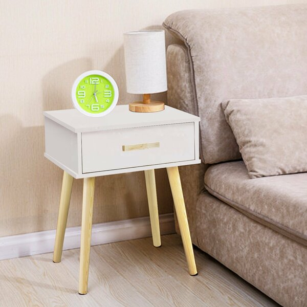 Clauson Modern 1 Drawer Nightstand by George Oliver
