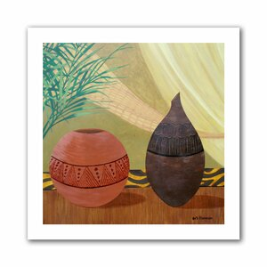 African Style' by Herb Dickinson Print of Painting on Rolled Canvas by ArtWall