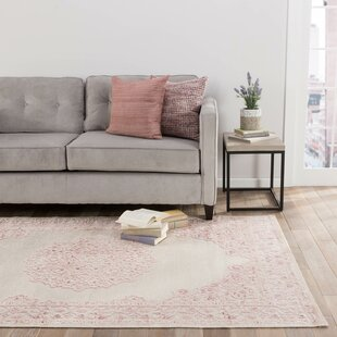 Fontanne Power Loom Ivory/Baby Pink Area Rug