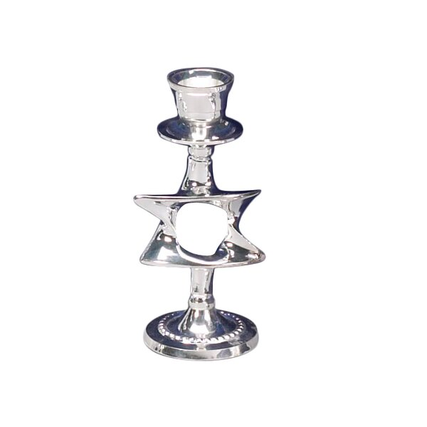 Silver Plated Candlestick (Set of 2) by Israel Giftware Design