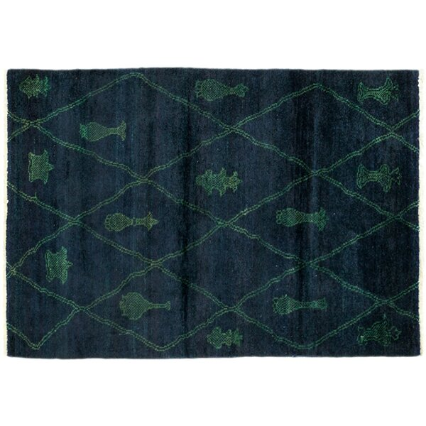 One-of-a-Kind Moroccan Hand-Knotted Blue Area Rug by Darya Rugs