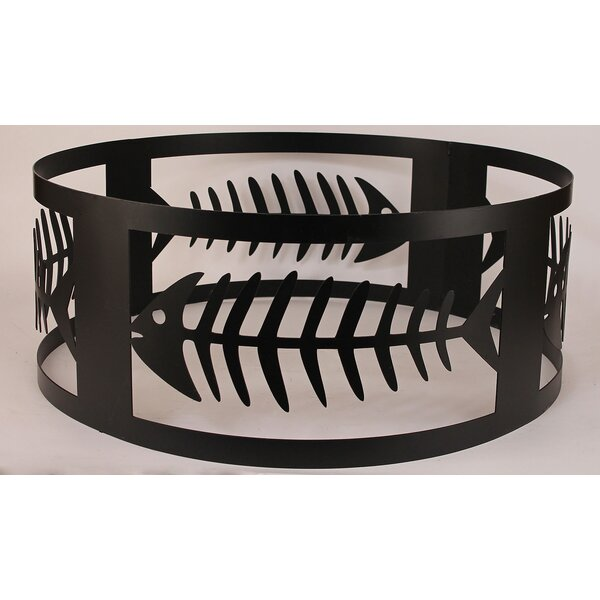 Bone Fish Steel Charcoal Fire ring by Coast Lamp Mfg.
