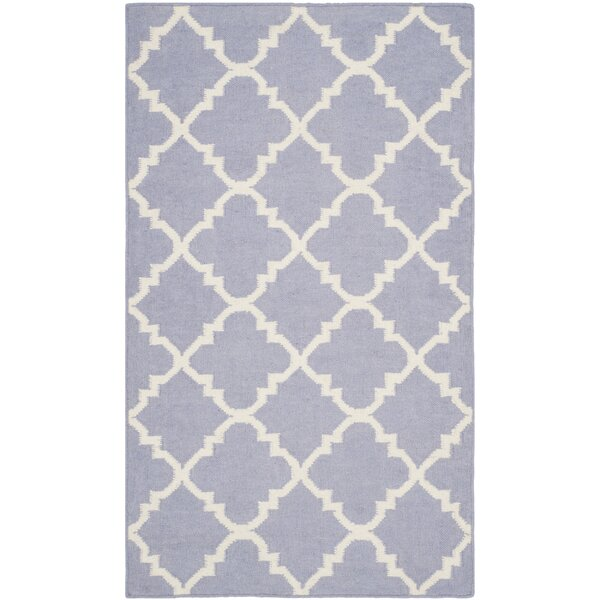 Purple/Ivory Area Rug by Birch Lane Kids™