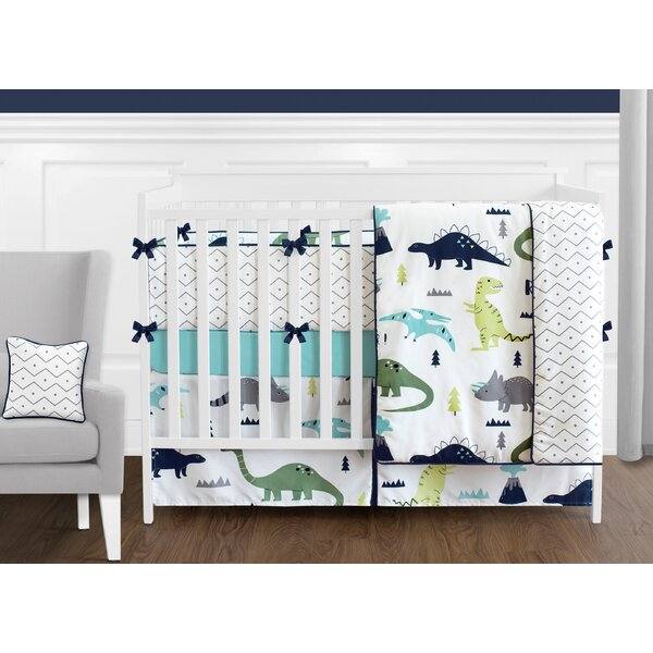 Mod Dinosaur 9 Piece Crib Bedding Set by Sweet Joj
