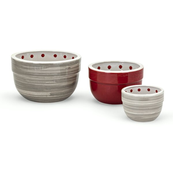 Berry Patch 3 Piece Ceramic Mixing Bowl Set by Trisha Yearwood Home Collection