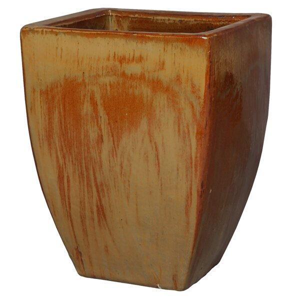 Square Ceramic Pot Planter by Emissary Home and Garden