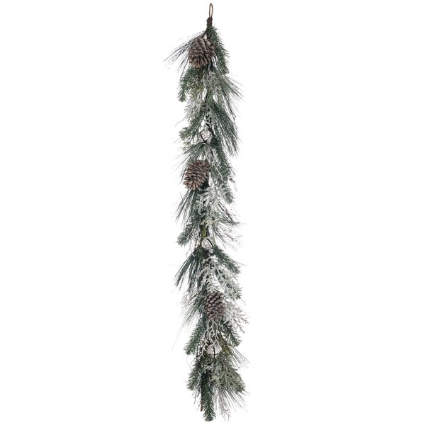 Flocked Pine with Bells Garland by The Holiday Aisle