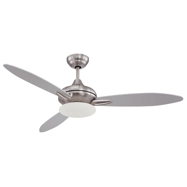 52 Rahil 3 Blade LED Ceiling Fan with Remote by Latitude Run